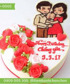 Bánh sinh nhật tặng vợ yêu tặng chồng yêu MS 2D-0005