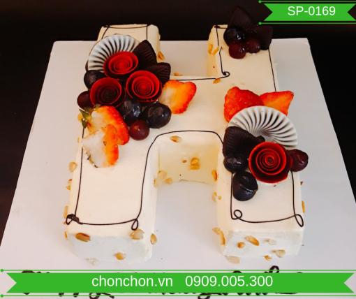 Bánh Sinh Nhật Tạo Hình Chữ Dễ Thương MS SP-0169