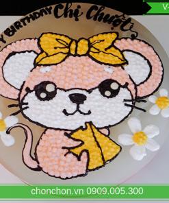 Bánh Sinh Nhật Vẽ Hình Chuột Dễ Thương V-0041