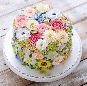 Hoa và Bánh Sinh Nhật Crush Flowerbi